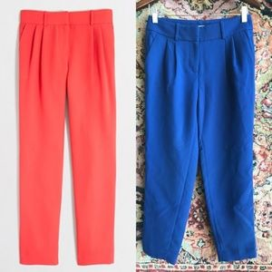 J Crew Trousers Drapey Pant Pleated Slack Pants